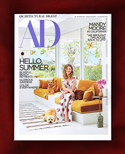 Architectural Digest Magazine (July/August, 2018) Mandy Moore Cover