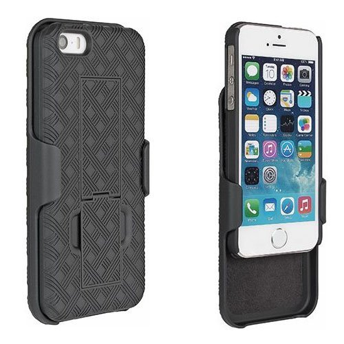 Apple Combo (Verizon Shell Holster Combo Case for the New iPhone 6 / 6S (4.7 Inch) - Wydan Black Hard Combo Cover)