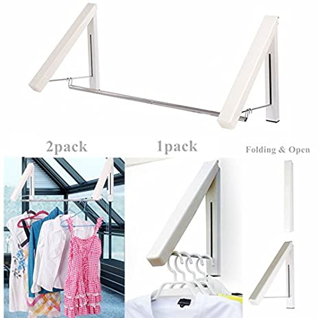 Beau Clothes Hanger   Folding U0026 Retractable Clothes Racks| Wall Mounted Clothes  Drying Rack| Aluminum