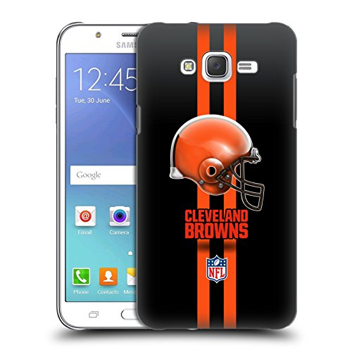 Brown Helmet Case (Official NFL Helmet Cleveland Browns Logo Hard Back Case for Samsung Galaxy J7)