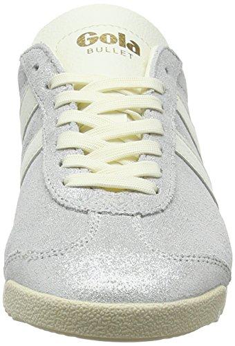 Bullet Powder White Mujer Hueso Off Gola Off Zapatillas para White Glitter PwO1dqv