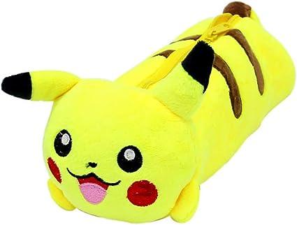 Pikachu - Estuche para lápices de peluche, color amarillo: Amazon.es: Oficina y papelería