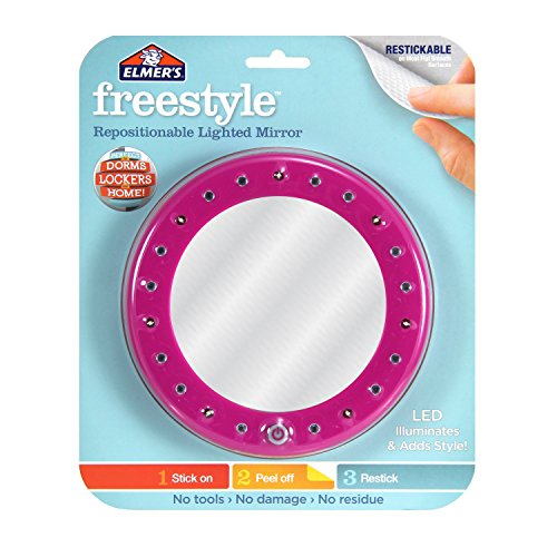 elmers-freestyle-repositionable-adhesive-lighted-mirror-hollywood-pink-e6337
