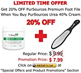 PurSources Urea 40% Foot Cream 4 oz - Best Callus