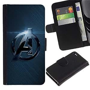 UNIQCASE - Apple Iphone 4 / 4S - A Superhero Team - Cuero PU Delgado caso cubierta Shell Armor Funda Case Cover