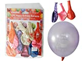 12PC 12'' Happy Birthday Balloons 3.2g each, assorted colors , Case of 96