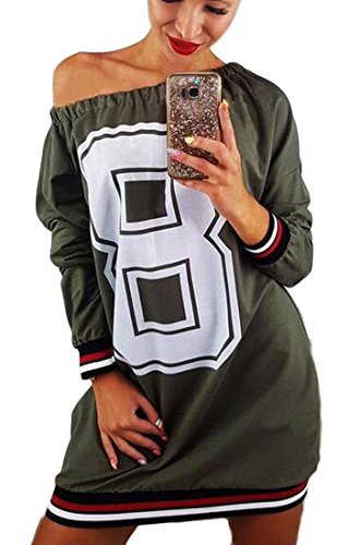 Dress Letter 2 Slim Print Women's Sweatshirts Shouder Off Jaycargogo 0EqSOwW