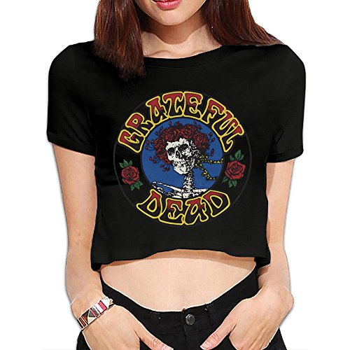 Price comparison product image SHUAIza The Grateful Dead Logo Women's Short Sleeve Navel Tee T-Shirt Blouse