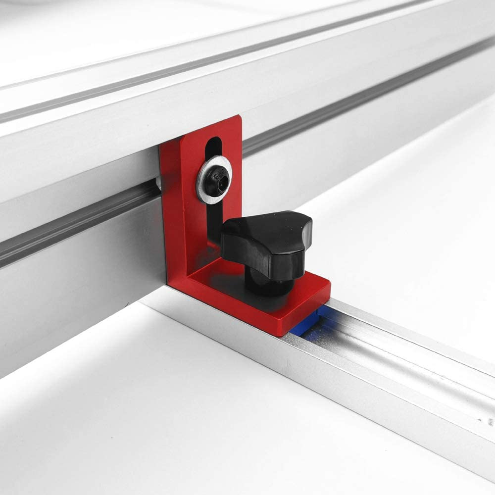 Festnight Fixation T-Slot Mitre Track Stop Locator Supports coulissants Support de rail de travail du bois Goulotte Connecteur Support Outil de travail du bois