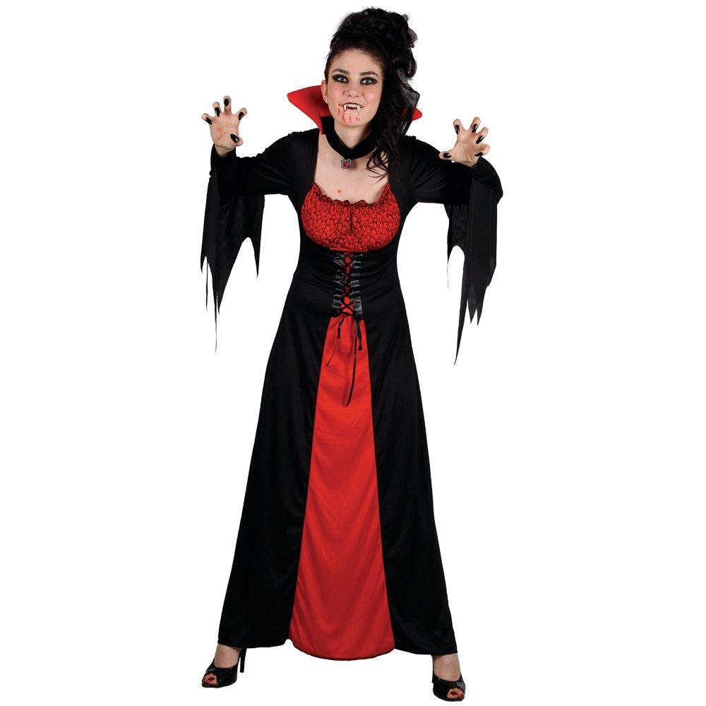 (S) Ladies Classic Vampiress Halloween Costume for Fancy Dress Womens Wicked Costumes