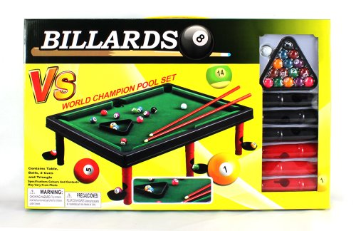 Charmant Amazon.com: Mini Master World Champion Toy Billiard Pool Table Game W/ Table,  Full Set Of Billiard Balls, 2 Cues, Triangle: Toys U0026 Games
