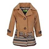 Cutecumber Girls Coat Fabric Embellished Beige Jacket AM-2476J-BEIGE-22