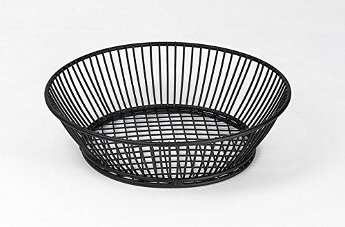 G.E.T. Enterprises Black Round Metal Wire Basket Iron Powder Coated Specialty Servingware Collection 4-31872 (Pack of 1)