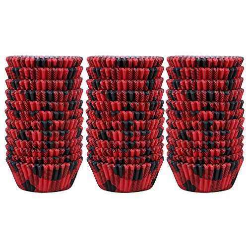 red and black cupcake liners - 2