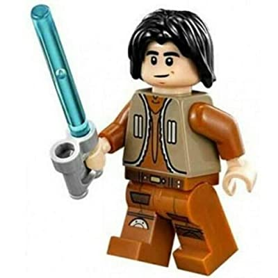 LEGO Star Wars Rebels Minifigure - Ezra Bridger with Lightsaber (75090): Toys & Games