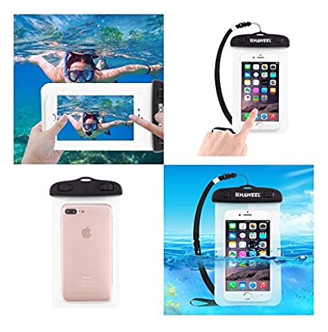 DFV mobile - Funda Protectora Playa Sumergible Universal 30M Impermeable para => HUAWEI ASCEND G730 > (Estuches Huawei G730)