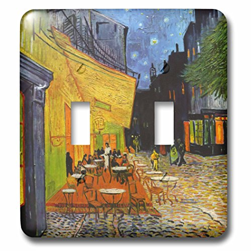 3D Rose lsp_155653_2 Cafe Terrace At Night By Vincent Van Gogh 1888 Restaurant French Street Painting Coffeehouse Wall Light - Terrace Rose