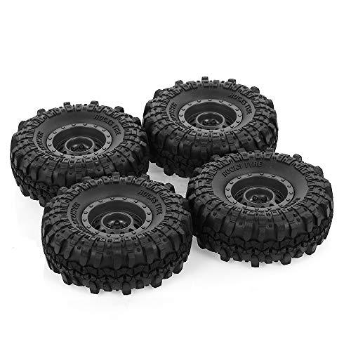 Goolsky 4pcs Austar 110mm 1.9 Inch Rim Rubber Tyre Tire Wheel for 1/10 RC Car Traxxas HSP Redcat RC4WD Tamiya Axial SCX10 D90 HPI RC Rock Crawler