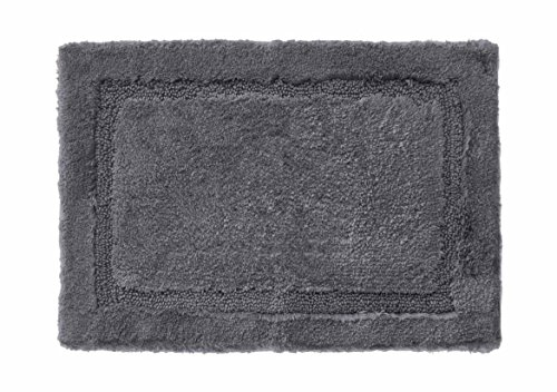 - Grund Asheville Series 100% Organic Cotton Bath Rug 24-Inch by 60-Inch Slate Gray