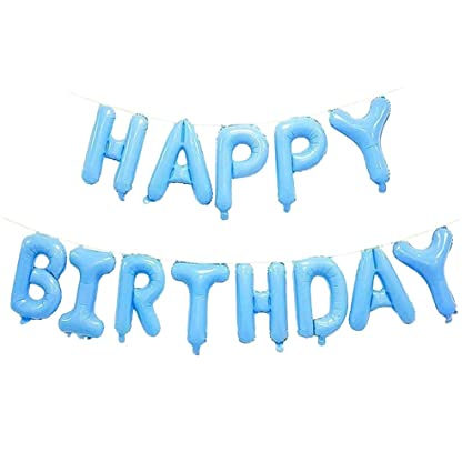 Image Unavailable Not Available For Color AZOWA Happy Birthday Letter Balloons