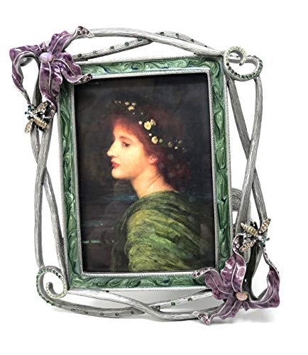 Jay Strongwater Flower and Bee Photo Frame