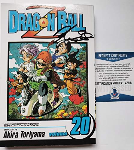 Kara Edwards autographed Manga Volume 20 Comic Book Dragon Ball Z Goten Videl Beckett