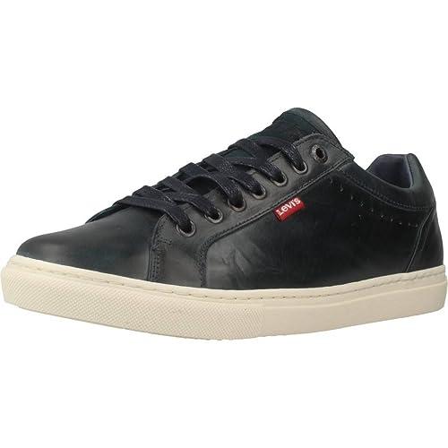 Levi'S Perris Oxford, Zapatillas para Hombre, Gris (Noir Regular Grey), 41 EU