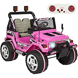 Best Choice Products 12V Ride On Car w/ Remote Control, Leather Seat, UV Lights, 2 Speeds Pink