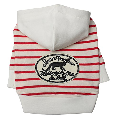 TONY HOBY Zebra Stripes Dog Hoodies Sweatshirts Cotton Made Pet Clothes for Dogs
