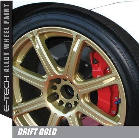 E-Tech Drift Rueda de aleación de Oro Chip Resistente Pintura 400 ml: Amazon.es: Coche y moto