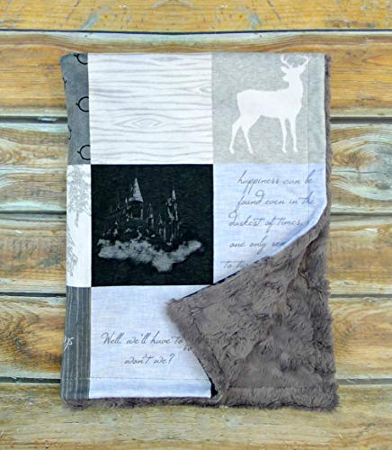 HP Baby Blanket - Wizard Baby Blanket - Minky Baby Blanket - Designer Minky Baby Blanket - Potter Blanket - Baby Blanket - Nursery Decor - Crib Bedding - Faux Patchwork