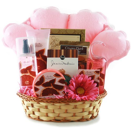 amazoncom pamper me pink spa gift basket gourmet candy gifts grocery gourmet food