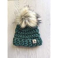 Crochet Baby Beanie Toque Hat With Pom