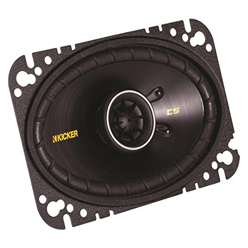 Kicker 40CS464 4x6 CS-Series Coaxial Speakers - Pair (Black)