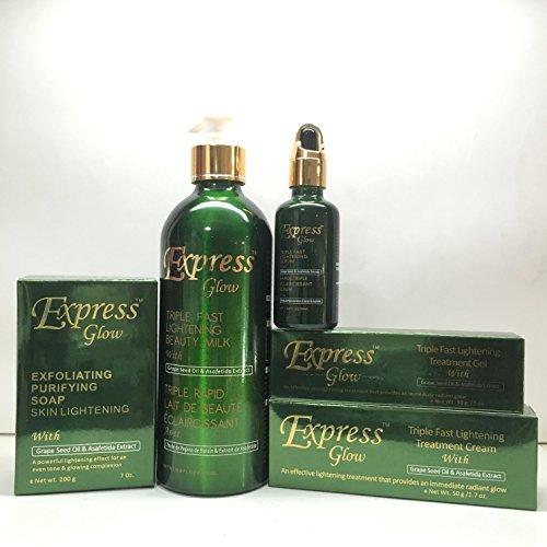 Express Glow Set Milk Soap Cream Gel Serum