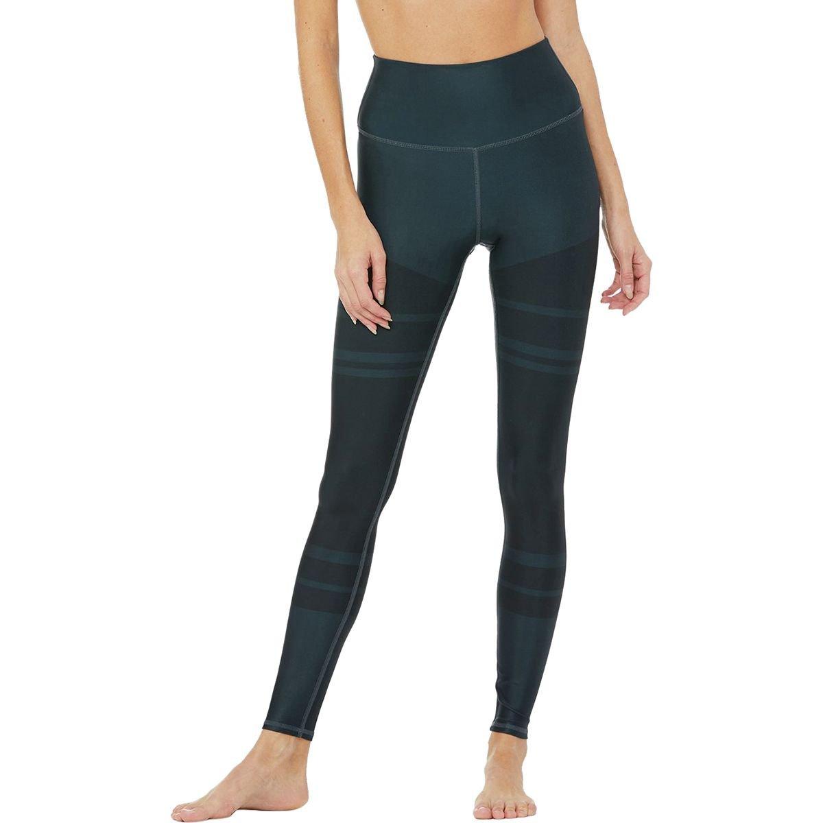 Alo Yoga High-Waist Tech Lift Airbrush Legging - Women's Black Marathon, M