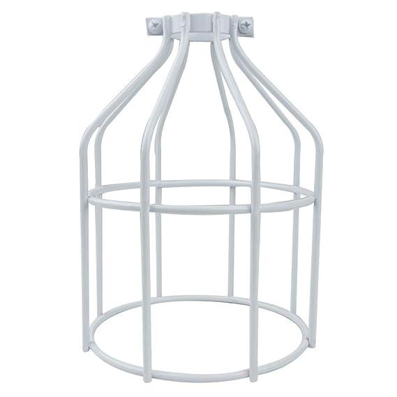 Cablematic - Pantalla para lámpara tipo jaula metálica de color ...