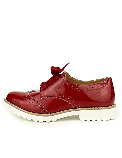 CendriyonDerbies Vernies Rouge Chaussures Femme Taille C'm 41 cAR3qjL45S