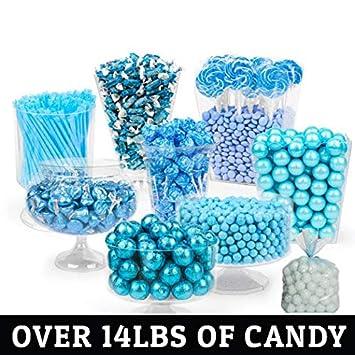 amazon com light blue candy buffet approx 14lbs includes rh amazon com  light blue and silver candy buffet