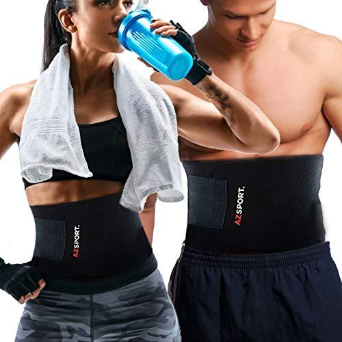 AZSPORT Waist Trimmer Trainer for Men / Women, Sweat Ab Belt for Weight Loss by AZSPORT Waist Trimmer