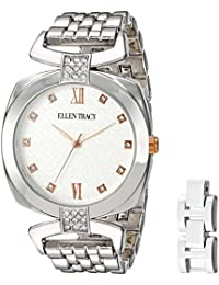 Women's Quartz Metal and Alloy Watch, Color White (Model: ET5224SLR)