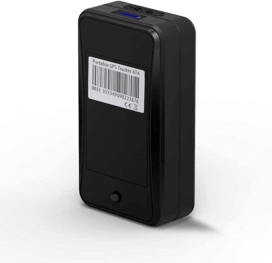 Localizador GPS 10000mAh, JIMI AT4 GPS Tracker Magnéticov Portátil Rastreador GPS en Tiempo Real Localizador SMS Alarma de vibración para ...