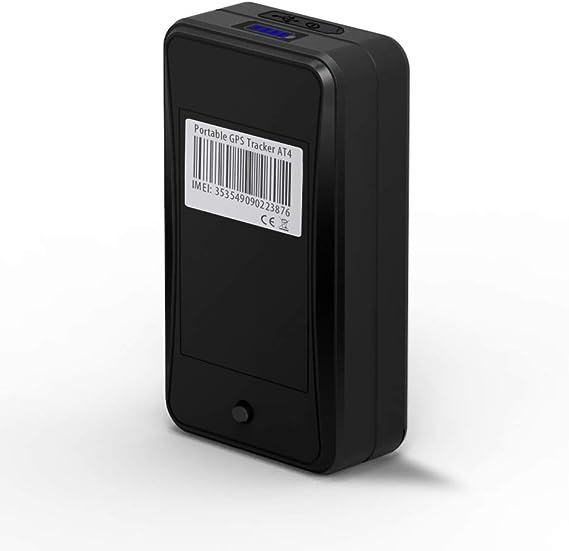 JIMI AT4 Localizador GPS Fuerte Imán y 10000 mAh Recargable GPS Tracker para Coche/Auto/Moto/Activos/Bolso/Equipaje/Niños/personas mayores con GPS en ...