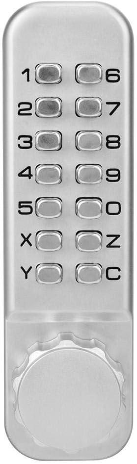 Serrure de porte /à code /à 14 chiffres Serrure de porte /à verrou combin/é sans cl/é m/écanique avec doubles claviers Serrure de porte /à verrou m/écanique sans cl/é /à double clavier