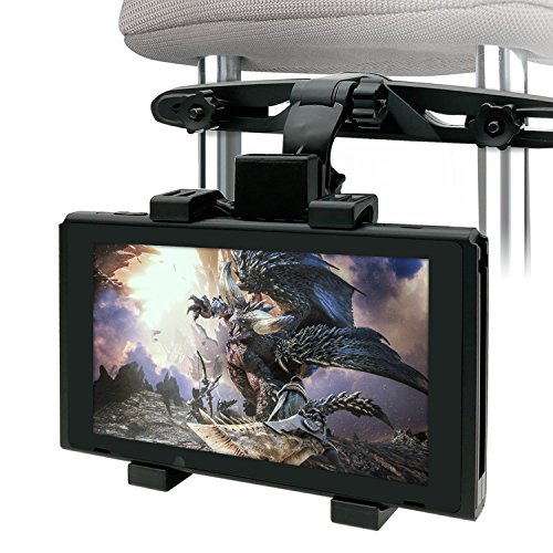 Car Holder For Nintendo Switch Fyoung Car Headrest Mount Holder For Switch Ipad Kindle Fire Samsung Galaxy   Black