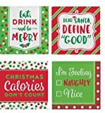 Christmas Cocktail Napkins funny phrases variety pack Beverage paper napkins assorted 60 Count