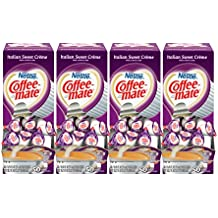 NESTLE COFFEE-MATE Coffee Creamer, Italian Sweet Creme, liquid creamer singles, Pack of 200