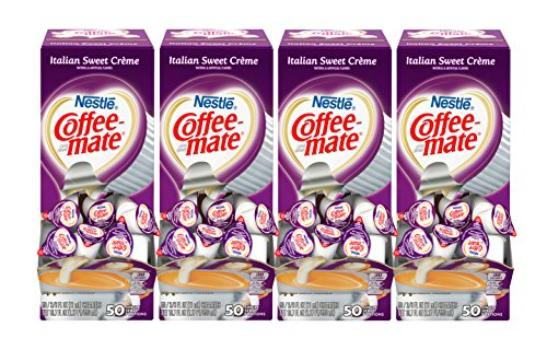 (NESTLE COFFEE-MATE Coffee Creamer, Italian Sweet Creme, liquid creamer singles, Pack of 200)