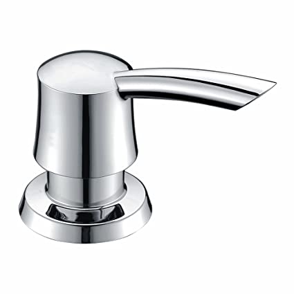 GICASA Bathroom Kitchen Sink Soap Dispenser, Polished Chrome Deck Mount  Soap Dispenser Kitchen Sink, High-capacity 320ML ABS Bottle Sink Soap Pump