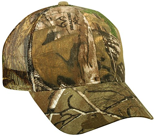 Realtree Adjustable Plastic Snap Closure Blank Mesh Back Cap, Realtree Xtra (Camo Mesh Hat)